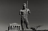 Sculpture by Igor Mitoraj, Daedalus, Concordia temple, Valle dei Templi, Agrigento, Sicily, Italy