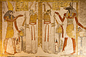 Painting in the Tomb of Tutankhamun, Valley of the Kings, Luxor, ancient Thebes, Egypt, Africa