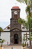 View of church in Saint Joseph, La Reunion, Indian Ocean
