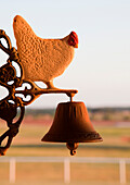 Decorative Bell with Chicken Figure, Washington, Oklahoma USA
