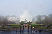 Catholic Cathedral and Gated Grounds, New Orleans, Louisiana, USA