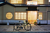 Bicycle Outside an Asian Restaurant, Kyoto, Japan