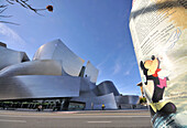 Exterior view of Walt Disney Concert Hall, Downtown, Los Angeles, California, USA, America