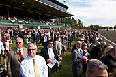 Visitors at the Keeneland Horse Race, high-society, visitors watching the race, Lexington, Kentucky, United States of America, USA