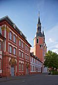 Building of Benedictines' abbey at Prüm, Founded in 721, Eifel, Rhineland-Palatinate, Germany, Europe