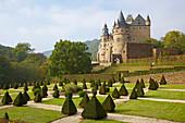 Bürresheim castle, Baroque garden, Mayen, Vulkaneifel, Eifel, Rhineland-Palatinate, Germany, Europe