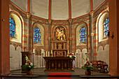 Roman Church at Niederehe, Indoor, Eifel, Rhineland-Palatinate, Germany, Europe