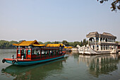 Boat of marble at the lake Kunming near the Yihe Yuan Summer Pal, Peking, Beijing, People's Republic of China