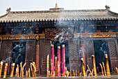 Incense sticks at The Giant Wild Goose Pagoda Da Yanta near Xi, Shaanxi Province, People's Republic of China