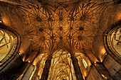 Vault at the Jeronimos monastery, Lisbon, Portugal, Europe