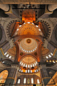 Ceiling inside Yeni Valide Mosque, Istanbul, Turkey
