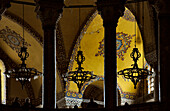 Vault inside of the Hagia Sophia, Istanbul, Turkey, Europe