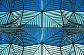 Glass roof of Lisbon Orient Station, Santiago Calatrava, Lisbon, Portugal, Europe