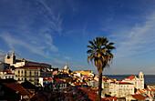View over Alfama with Monastery of Sao Vicente de Fora, Lisbon, Portugal