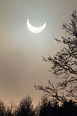 Partial solar eclipse (4th Jan 2011), Penzberg, Upper Bavaria, Germany