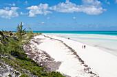 People stroll along pristine Playa Pilar beach, Cayo Guillermo (Jardines del Rey), Ciego de Avila, Cuba