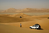Driving on the dunes, Rub,  al Khali desert, Oman