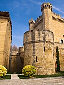 Buckets of the wall and the keep of Castle Sajazarra - Rioja Alta - La Rioja - Spain - Europe