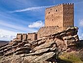 Castillo de Zafra, fortaleza medieval construida entre los siglos X y XI - Hombrados - Campillo de Dueñas - Sierra de Caldereros - Guadalajara - Castilla la Mancha - España