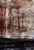 Aboriginal rock art site, Kakadu National Park, Northern Territory, Australia