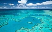 Considéré par certains comme la 8ème merveille du monde, la Grande barrière de corail s'étends sur plus de 2000 kilomètres au large des côtes nord-est australienne Au centre, on distingue une partie de récif en forme de cœur : le Heart Reef F-90X+17/35+