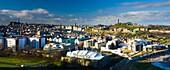 Scotland, Edinburgh, Edinburgh City The distinctive Edinburgh skyline with the famous landmarks of the Castle, Calton Hill and Holyrood