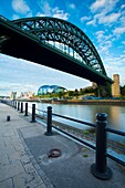 England, Newcastle upon Tyne, The Tyne Bridge The iconic Tyne Bridge, stretching across the River Tyne Quayside