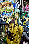 Hosier lane, tourist sight for street art and graffiti