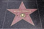 Walk of Fame, Hollywood, Nicole Kidman, Los Angeles, California, USA