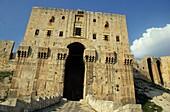Syria aleppo alep citadel the entrance gate