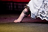Oriental dancer foot