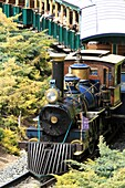 Steam train Universal Port Aventura theme park Tarragona province, Catalonia