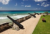 English iron cannons from 17th century at Needham's Point, Barbados, 'St Michael'