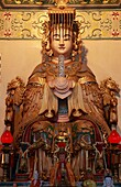 Malaysia, Kuala Lumpur, Thean Hou chinese temple, Heavenly Mother statue