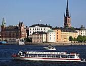 Sweden, Stockholm, Riddarholmen island, sightseeing boat