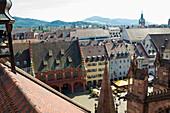 View over old town, Freiburg im Breisgau, Baden-Wurttemberg, Germany