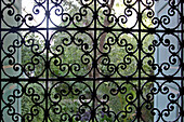 Detail of the Mashrabiya, a Latticed Grill in the Wives' Bedrooms Opening Onto the Garden that Allows Them to See Without Being Seen, the Bahia Palace Built For the Grand Vizier Ahmed Ben Moussa in the 19Th Century, Marrakech, Morocco