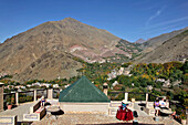 Panorama Over the Berber Village of Imlil and the Mountains of the Toubkal National Park As Seen From the Terrace of the Kasbah Du Toubkal, High Atlas Mountains, Morocco