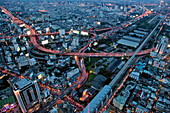 General View of the City From the Bayoke Tower, the Highest in the Capital (300 Meters), Bangkok, Thailand