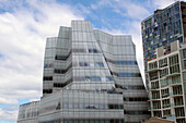 Facade of a Futuristic Building Along High Line Park, Meatpacking District, Manhattan, New York City, New York State, United States