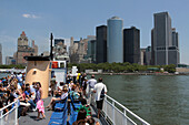 Boat Bringing Tourists to Battery Park in Manhattan, Port of New York City, New York State, United States
