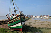 Wreck of a Boat Washed Up on the Shores, Sign of the Drop in Fishing Activity, Le Crotoy, Bay of Somme (80), France