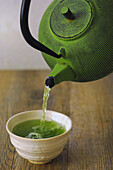 Preparing the High Quality Japanese Green Tea (Gyokuro) with a Mild Seaweed Taste and Antioxidant Properties, Japan, Asia