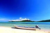 Beached Motorboat, Yaqeta Island, Fiji