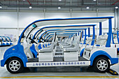 Electric Vehicles in a Warehouse, Shanghai, China