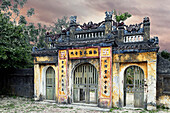 Weathered Oriental Gateway, Hoi An, An Giang, Vietnam