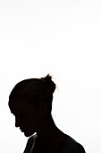 Young woman, silhouette