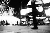 Urban street scene, b&w