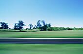 Landscape, blurred motion