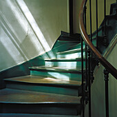 Staircase with light and shadows